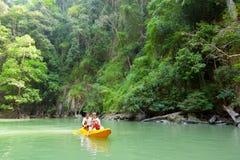 Kayaking in Pang Nga Bay, Thailand Royalty Free Stock Image