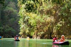 Kayaking in Pang Nga Bay, Thailand Stock Images