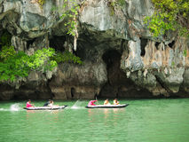 Kayaking in Pang Nga Bay, Thailand Stock Photo