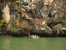 Kayaking in Pang Nga Bay, Thailand Royalty Free Stock Photo