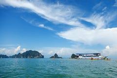 Kayaking in Pang Nga Bay, Thailand Royalty Free Stock Photography