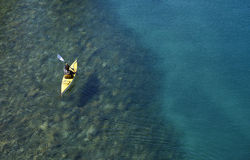Kayaking in Patagonia Stock Images