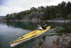Kayaking in Patagonia Royalty Free Stock Photography