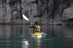 Kayaking in Patagonia Stock Photo