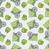 Kayaking Pattern XX stock illustration