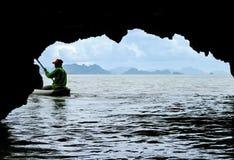 Kayaking on Phang Nga Bay. Royalty Free Stock Photography