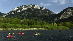 Kayaking in Pieniny, Spis region, Slovakia royalty free stock image