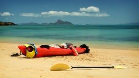 Kayaking pingstdagar Arkivfoto