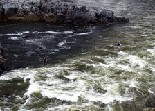 Kayaking the Potomac stock photos