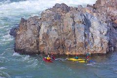 Kayaking on Potomac river, USA. Kayaking on Potomac river in Great Falls National Park in Virginia, USA Royalty Free Stock Photo