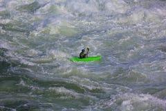 Kayaking on Potomac river, USA stock images