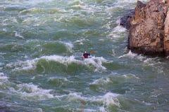 Kayaking on Potomac river, USA. Kayaking near Great Falls on Potomac river in Great Falls National Park in Virginia, USA Royalty Free Stock Photography