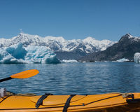 Kayaking prins William Sound Arkivbilder