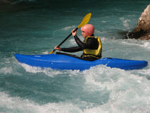 Kayaking on a river 3# Royalty Free Stock Photos