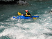 Kayaking on a river 4# Stock Photography