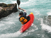 Kayaking on a river 8# Royalty Free Stock Photo