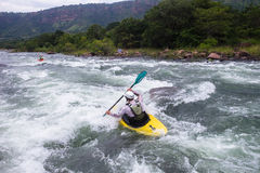 Kayaking River Action Royalty Free Stock Photo