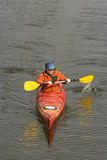 Kayaking on the river. Royalty Free Stock Photo