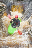 Kayaking in the River Findhorn . Royalty Free Stock Images