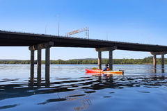 Kayaking on the river in Fredericton Stock Photos