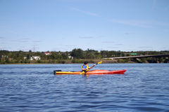 Kayaking on the river in Fredericton Stock Images