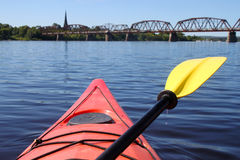 Kayaking on the river in Fredericton Stock Image