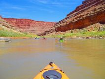 Kayaking the San Juan River Royalty Free Stock Photography