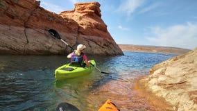 Kayaking Sand Hollow stock photos