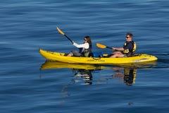 Kayaking in Santa Cruz Royalty Free Stock Image