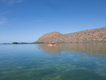 Kayaking on the sea of cortez,Mexico Royalty Free Stock Images
