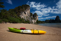 kayaking in sea at Thailand Royalty Free Stock Image