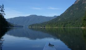 Kayaking - Sechelt Eingang Lizenzfreie Stockbilder