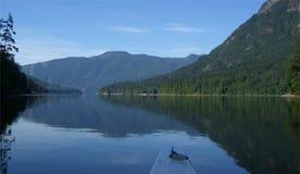 Kayaking -Sechelt Inlet. Morning kayaking  at Sechelt Inlet Royalty Free Stock Images