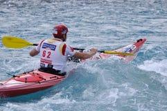Kayaking section Stock Image