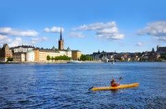 Kayaking in Stockholm Royalty Free Stock Photos