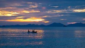 Kayaking at sunset Royalty Free Stock Images