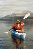 Kayaking sur Loch Lomond Photographie stock