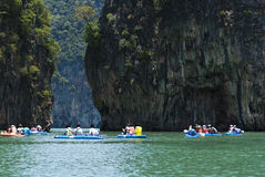 Kayaking in Tailandia Fotografie Stock