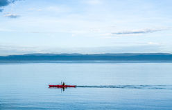 Kayaking in Tasmania. Kayak in Freyvinet National Park, Tasmania Royalty Free Stock Photos