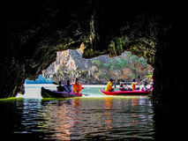 Kayaking in Thailand concept Royalty Free Stock Photo