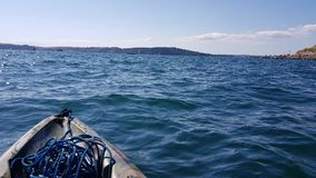 Kayaking in to plymouth sound .  devon uk Stock Photography