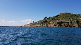 Kayaking in to plymouth sound .  devon uk Royalty Free Stock Images