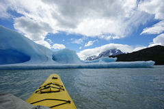 Kayaking in Torres del paine national park Stock Photography