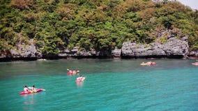 Kayaking in Tropical Sea. 1920x1080. Hd stock footage
