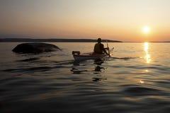 Kayaking 30 tusen öar - georgisk fjärd Royaltyfri Bild