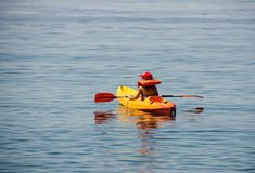 Kayaking on vacations Stock Photography