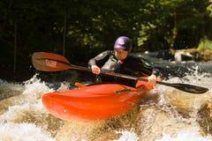 kayaking vattenwhite Royaltyfri Bild
