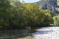 Kayaking at the voidomatis river. ''Voidomatis''  is a river in the Ioannina regional unit in northwestern Greece, and is a tributary of the Aoös river. The Royalty Free Stock Photo
