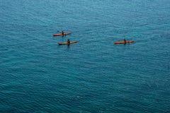 Kayaking w morzu Zdjęcie Stock