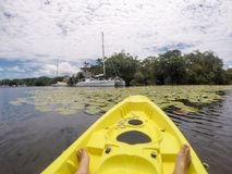 Kayaking w Rio Dulka Obrazy Stock